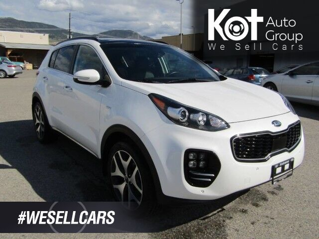 2018 Kia SPORTAGE SX TURBO! FULL LOAD! LEATHER! PANORAMIC SUNROOF! NAV! SUPER CLEAN! NO ACCIDENTS! BACKUP CAM! HEATED SEATS! COOLING SEATS! Kelowna BC