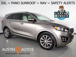 2018_Kia_Sorento SX Limited V6_*NAVIGATION, PANORAMA MOONROOF, BLIND SPOT & LANE DEPARTURE ALERT, COLLISION ALERT, SURROUND VIEW CAMERAS, NAPPA LEATHER, CLIMATE SEATS, 3RD ROW, APPLE CARPLAY_ Round Rock TX