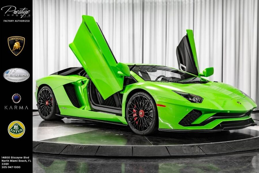 2018_Lamborghini_Aventador_S_ North Miami Beach FL