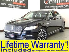 Lincoln Continental SELECT PANORAMIC ROOF REAR CAMERA PARK ASSIST HEATED LEATHER SEATS APPLE CA 2018