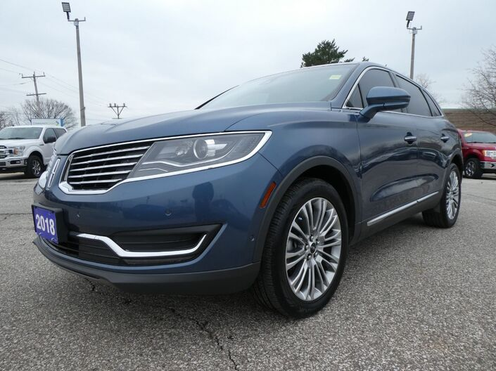 2018 Lincoln MKX Reserve Navigation Remote Start Panoramic Roof Essex ON