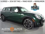 2018 MINI Clubman S *6-SPEED, JCW EXTERIOR PKG, PANORAMA MOONROOF, BACKUP-CAMERA, HARMAN/KARDON, SPORT SEATS, COMFORT ACCESS, BLUETOOTH PHONE & AUDIO