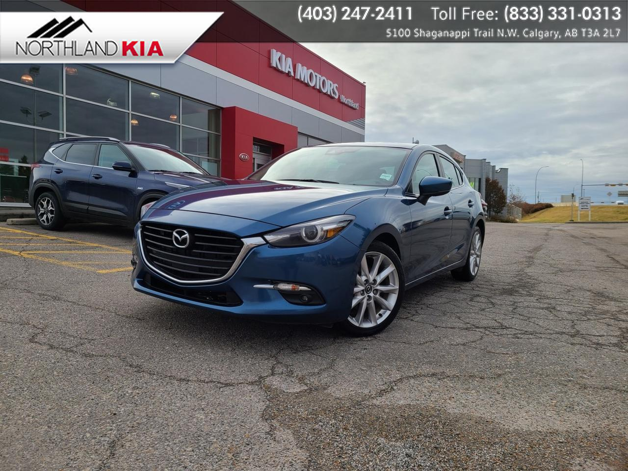 2018 Mazda Mazda3 Sport GT HEATED SEATS/STEERING WHEEL, BACKUP CAMERA, SUNROOF Calgary AB