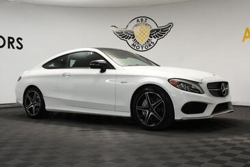 2018_Mercedes-Benz_C-Class_AMG C 43 Coupe Night Package Blind Spot Rear View_ Houston TX