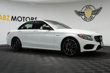 2018_Mercedes-Benz_C-Class_AMG C 43 Panoramic Roof Nav Night Package Rear View Low Miles_ Houston TX