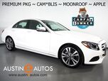 2018 Mercedes-Benz C-Class C 300 Sedan *PREMIUM PKG, BLIND SPOT ALERT, BACKUP-CAMERA, MOONROOF, HEATED SEATS, KEYLESS-GO, 18 INCH WHEELS, BLUETOOTH, APPLE CARPLAY