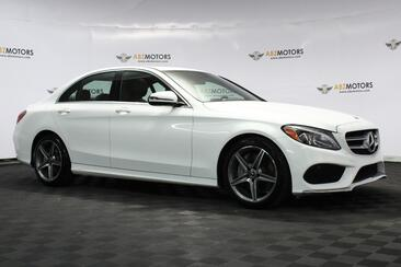 2018_Mercedes-Benz_C-Class_C 300 Sport Pack, Moon Roof, Blind Spot, Red Interior, Amg, Lighting, Rear View Camera!_ Houston TX