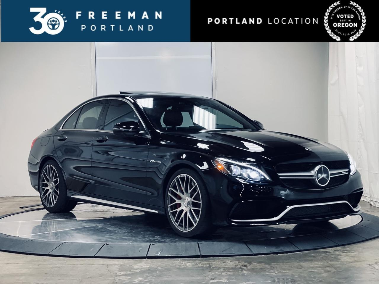 2018 Mercedes-Benz C63 S AMG DISTRONIC Performance Exhaust Carbon Fiber Trim Portland OR