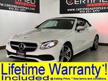 2018_Mercedes-Benz_E 400 Cabriolet_CABRIOLET NAVIGATION REAR CAMERA PARK ASSIST HEATED LEATHER SEATS NECK-LEVE_ Carrollton TX