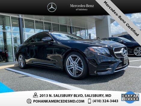 2018_Mercedes-Benz_E-Class_E 400 4MATIC®** MERCEDES-BENZ CERTIFIED **_ Salisbury MD