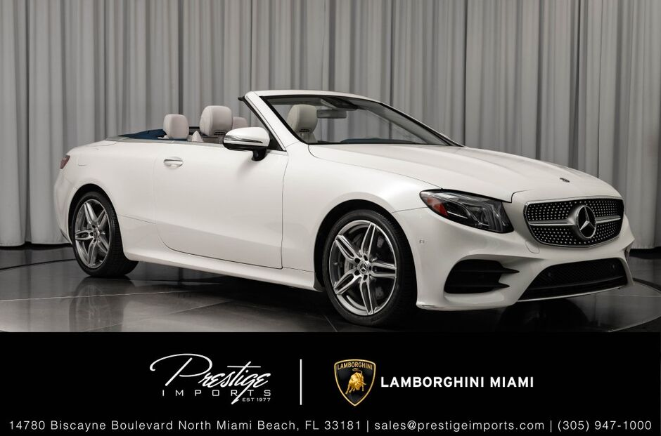 2018_Mercedes-Benz_E400_RWD Cabriolet_ North Miami Beach FL