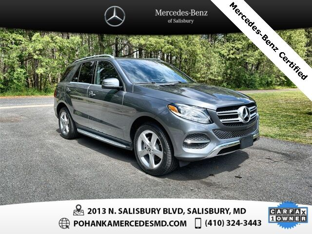 2018 Mercedes-Benz GLE GLE 350 4MATIC® Mercedes-Benz Certified Pre-Owned Salisbury MD