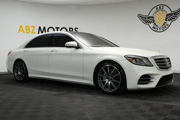 2018_Mercedes-Benz_S-Class_S 560 Sport AMG Rear Seat Pack White interior_ Houston TX
