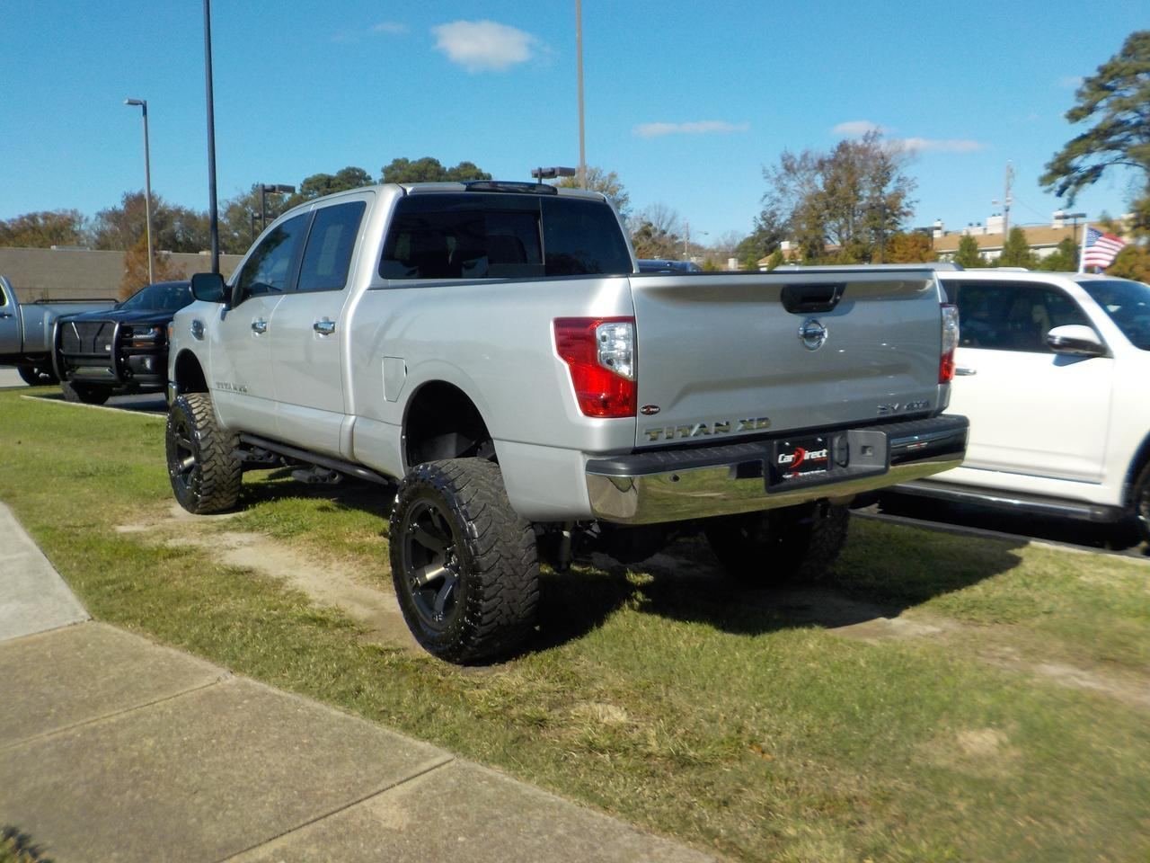 2018 NISSAN TITAN XD CREW CAB SV 4X4, CUMMINS DIESEL,  FUEL RIMS, LIFTED, TOW PKG, BACKUP CAM, BLUETOOTH, 36K MILES! Virginia Beach VA