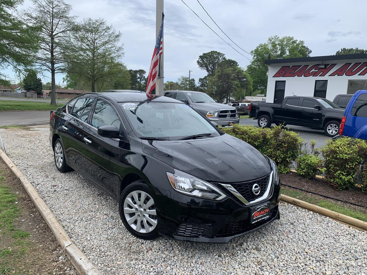 2018 NISSAN SENTRA S, WARRANTY, AUX/USB PORT, BACKUP CAM, BLUETOOTH, SATELLITE RADIO, 1 OWNER!