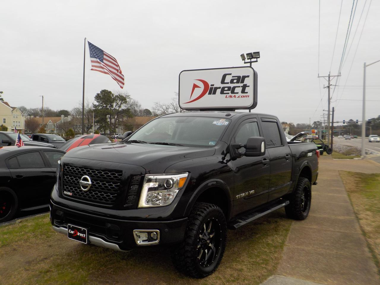 2018 NISSAN TITAN PRO-4X NISMO CREW CAB 4X4, WARRANTY, NAVIGATION, HEATED LEATHER AND STEERING WHEEL, ALL OPTIONS, NEW Virginia Beach VA