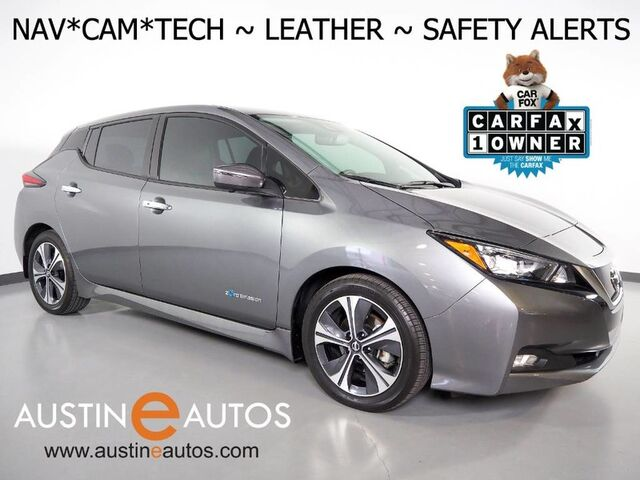 2018 Nissan LEAF SL (40 kWh Battery) *NAVIGATION, BLIND SPOT ALERT, COLLISION/PEDESTRIAN ALERT, ADAPTIVE CRUISE, SURROUND VIEW MONITOR, LEATHER, HEATED SEATS, BOSE AUDIO, APPLE CARPLAY Round Rock TX