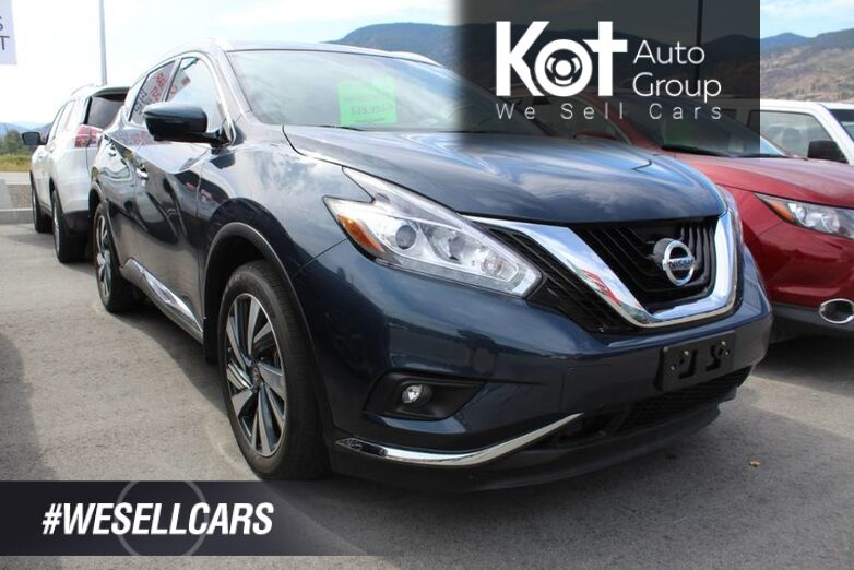 2018 Nissan Murano AWD Platinum, One Owner, Only 13,504 Km's Kelowna BC