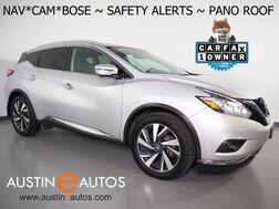2018_Nissan_Murano Platinum_*NAVIGATION, COLLISION ALERT, BLIND SPOT ALERT, PANORAMA MOONROOF, ADAPTIVE CRUISE, SURROUND VIEW MONITORS, LEATHER, CLIMATE SEATS, BOSE AUDIO, BLUETOOTH_ Round Rock TX