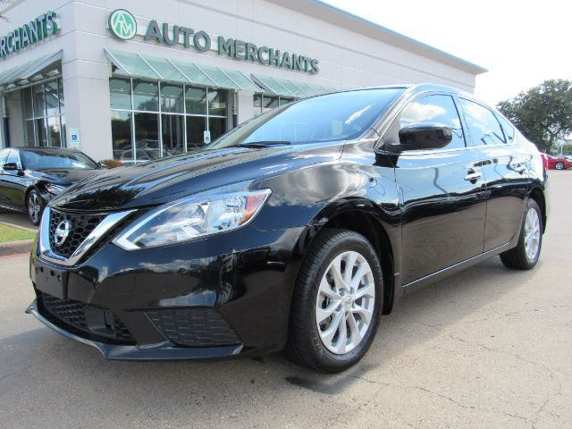 2018 Nissan Sentra SV. BACKUP CAMERA, BLUETOOTH CONNECTION, AUX/USB, STEERING WHEEL AUDIO CNTRLS, DUAL ZONE CLIMATE Plano TX