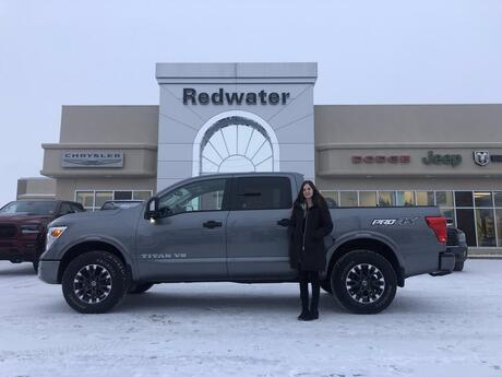 2018 Nissan Titan PRO-4X - Blind-Spot Warning - Nav - Heated/ Cooled Front Seats - Remote Start Redwater AB