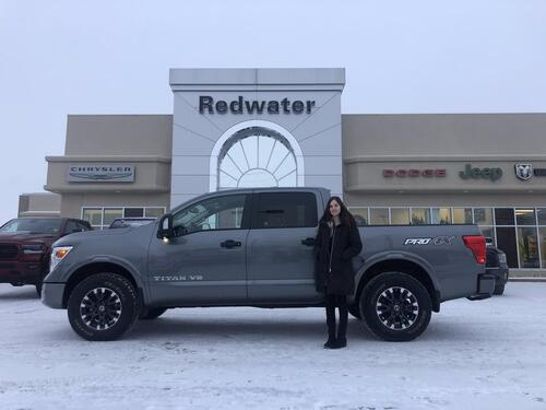 2018_Nissan_Titan_PRO-4X - Blind-Spot Warning - Nav - Heated/ Cooled Front Seats - Remote Start_ Redwater AB