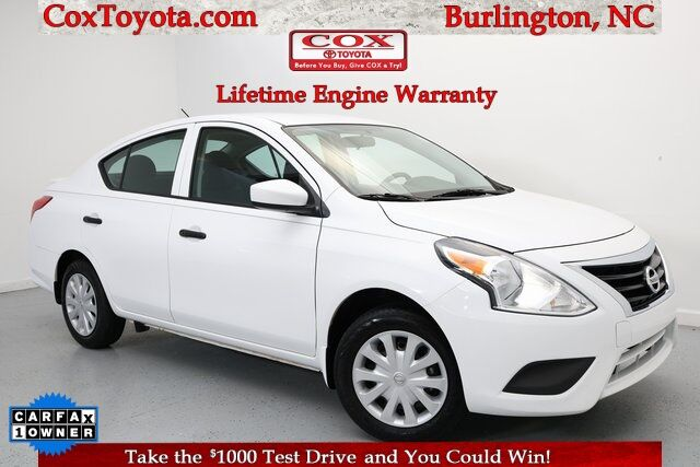 2018 Nissan Versa 1.6 S Plus Burlington NC