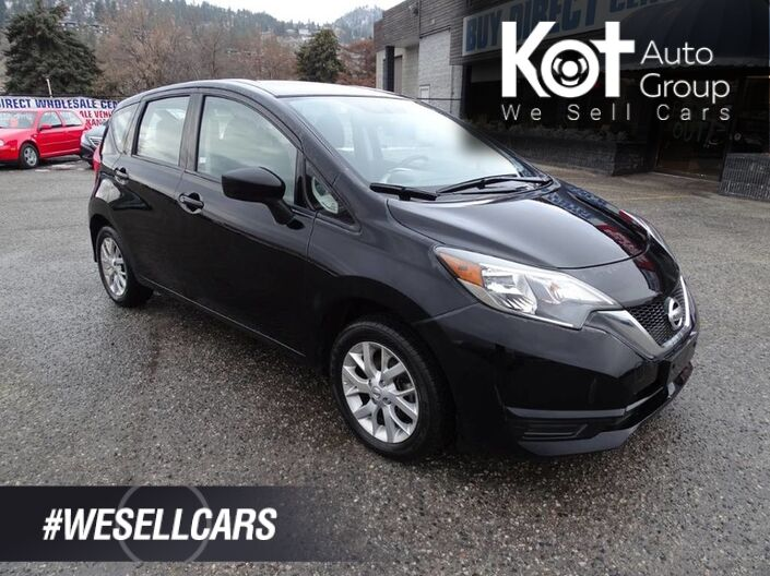 2018 Nissan Versa Note SV Hatchback, SXM, Heated Seats, Back-up Camera, Low KM's Kelowna BC