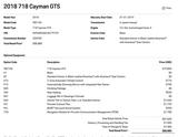 2018 Porsche 718 Cayman GTS Pompano Beach FL