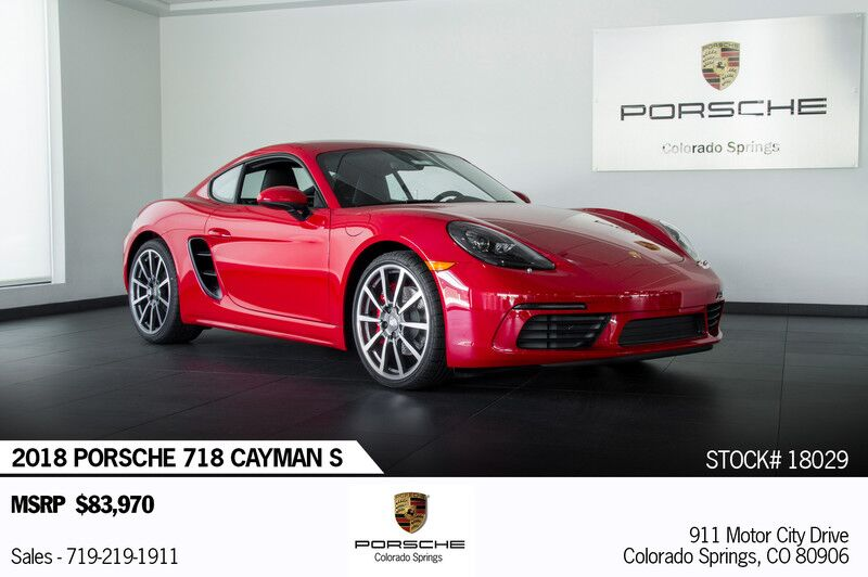 2018 Porsche 718 Cayman S Colorado Springs CO