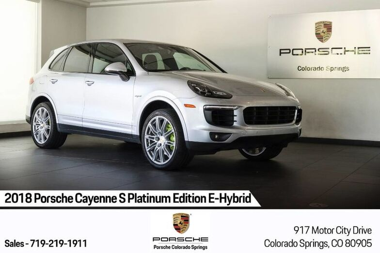 2018 Porsche Cayenne S Platinum Edition E-Hybrid Colorado Springs CO