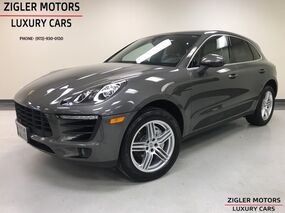Porsche Macan S AWD Sport Exhaust 19 Inch Turbo Whls Apple Car Play Pano Roof Lane Departure 2018