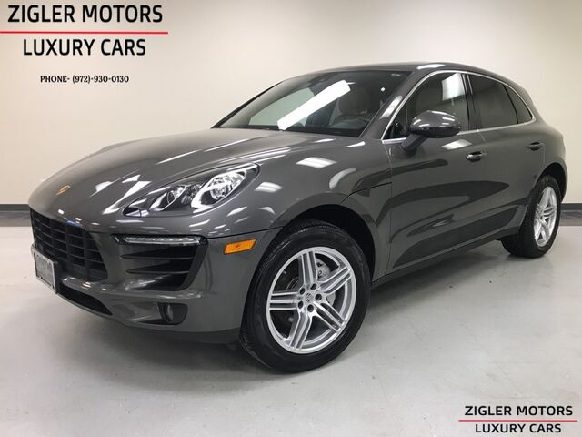 2018 Porsche Macan S AWD Sport Exhaust 19 Inch Turbo Whls Apple Car Play Pano Roof Lane Departure Addison TX