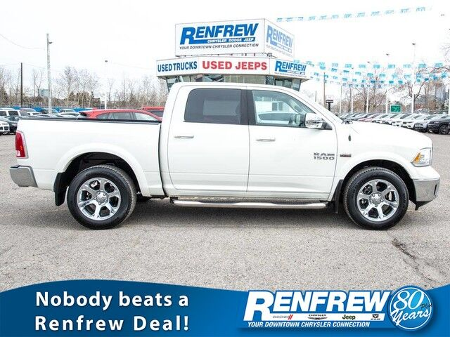 2018 Ram 1500 Laramie 4x4, Sunroof, Cooled/Heated Leather Seats, Bluetooth, SiriusXM Calgary AB