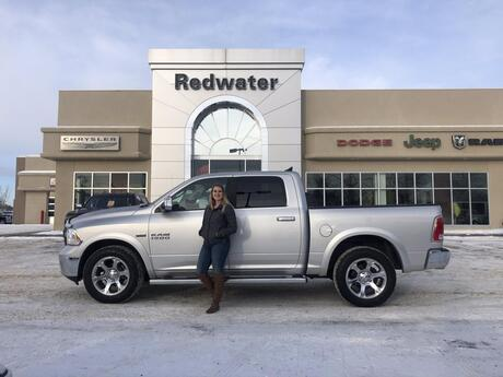 2018 Ram 1500 Laramie  Crew Cab  4X4 - Trailer Tow Package - Sunroof - Navigation - Remote Start - Spray In Liner Redwater AB