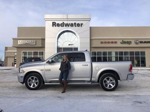 2018_Ram_1500_Laramie  Crew Cab  4X4 - Trailer Tow Package - Sunroof - Navigation - Remote Start - Spray In Liner_ Redwater AB
