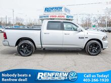 2018_Ram_1500_Sport 4x4 Crew Night Package, Power options, Bluetooth, Heated Seats, Backup cam_ Calgary AB