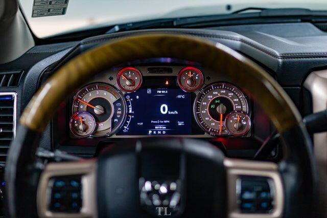 2018 Ram 3500 4x4 Mega Cab Longhorn Dually Diesel AISIN Leather Roof Nav Red Deer AB