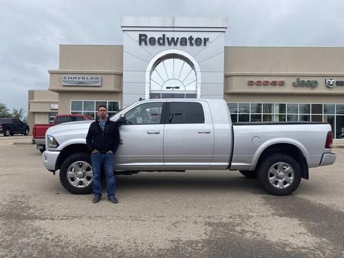 2018_Ram_3500_Laramie Sport Mega Cab - Cummins Diesel - Aisin Trans - Sunroof - Deleted - One Owner_ Redwater AB