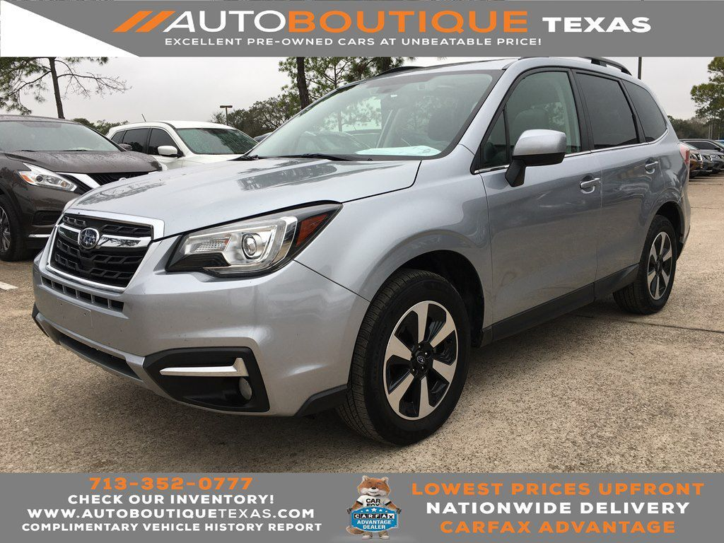 2018 SUBARU FORESTER LIMITE LIMITED Houston TX
