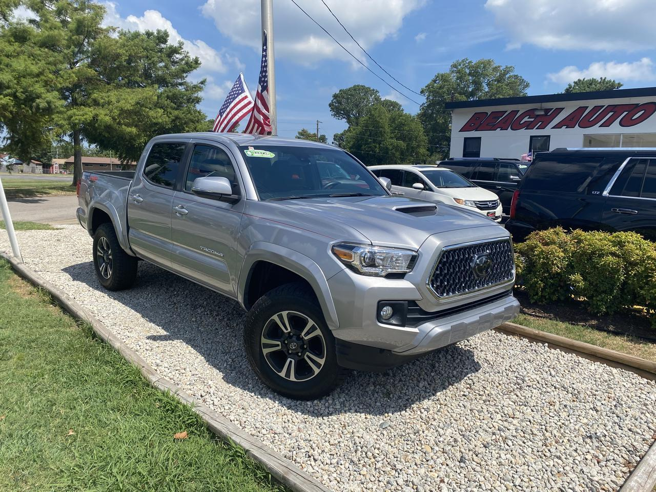 2018 TOYOTA TACOMA TRD SPORT DOUBLE CAB 4X4, WARRANTY, MANUAL, NAV, BLUETOOTH, BACKUP CAM, 1 OWNER, LOW MILES! Norfolk VA