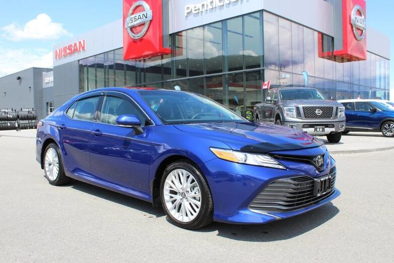 2018 Toyota Camry XLE, Very Low Km's, Moon Roof, Navigation, Beautiful Blue Crush Kelowna BC