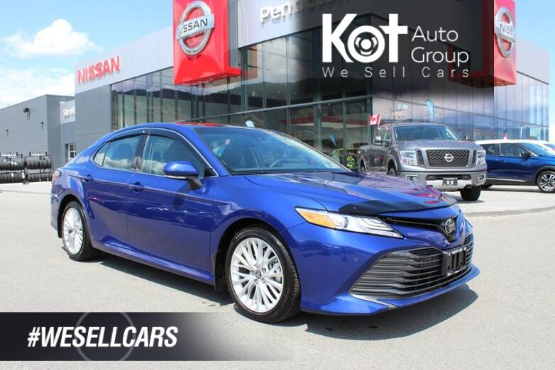 2018 Toyota Camry XLE, Very Low Km's, Moon Roof, Navigation, Beautiful Blue Crush Penticton BC