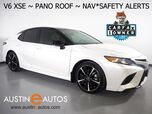 2018 Toyota Camry XSE V6 *NAVIGATION, HEADS-UP DISPLAY, PANORAMA MOONROOF, DRIVER ASSIST PKG, BLIND SPOT & LANE DEPARTURE ALERT, ADAPTIVE CRUISE, LEATHER, HEATED SEATS, JBL AUDIO, WIRELESS CHARGING
