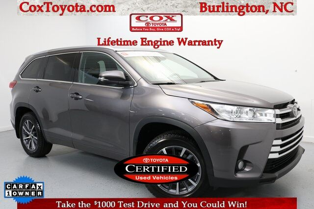 2018 Toyota Highlander XLE Burlington NC