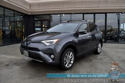 2018_Toyota_RAV4_Hybrid Limited / AWD / Power & Heated Leather Seats / Navigation / Sunroof / Blind Spot & Collision Alert / Lane Departure Alert / Bluetooth / Back Up Camera / Keyless Entry & Start / Power Liftgate / Tow Pkg / 1-Owner_ Anchorage AK