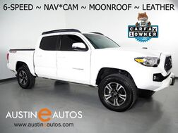 2018_Toyota_Tacoma TRD Sport V6 4WD_*6-SPEED, NAVIGATION, LANE DEPARTURE ALERT, ADAPTIVE CRUISE, COLLISION ALERT w/BRAKING, MOONROOF, LEATHER, TRD PERFORMANCE EXHAUST, BLUETOOTH AUDIO_ Round Rock TX