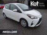 2018 Toyota Yaris Hatchback LE Bluetooth, Back-up Camera, Heated Seats, Low KM's