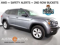 2018_Volkswagen_Atlas 3.6L V6 SE w/Technology 4MOTION_*2ND ROW CAPTAINS CHAIRS, BLIND SPOT ALERT, LANE KEEP ASSIST, BACKUP-CAMERA, ADAPTIVE CRUISE, TOUCH SCREEN, POWER LIFTGATE, HEATED SEATS, REMOTE START, BLUETOOTH, APPLE CARPLAY_ Round Rock TX