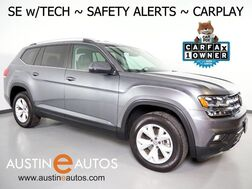 2018_Volkswagen_Atlas 3.6L V6 SE w/Technology_*BLIND SPOT ALERT, LANE KEEP ASSIST, BACKUP-CAMERA, ADAPTIVE CRUISE, TOUCH SCREEN, POWER LIFTGATE, HEATED SEATS, REMOTE START, BLUETOOTH, APPLE CARPLAY_ Round Rock TX
